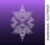 vector ornamental lotus flower  ...   Shutterstock .eps vector #511778425