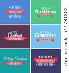 merry christmas and happy new... | Shutterstock .eps vector #511781302