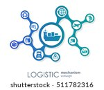 logistic mechanism concept.... | Shutterstock .eps vector #511782316