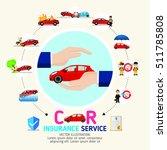 car insurance business service... | Shutterstock .eps vector #511785808