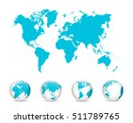 world map and globe detail... | Shutterstock .eps vector #511789765
