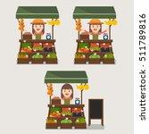 local market farmer selling... | Shutterstock .eps vector #511789816