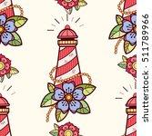 old school tattoos seamless... | Shutterstock .eps vector #511789966