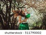 happy mother and baby daughter... | Shutterstock . vector #511790002