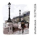 france   paris  pont neuf under ...   Shutterstock .eps vector #511791226