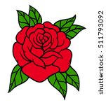 flower rose  red buds and green ... | Shutterstock .eps vector #511793092