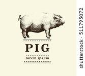 vector illustration of pig ... | Shutterstock .eps vector #511795072