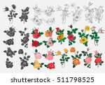 bouquet of roses can be used as ... | Shutterstock .eps vector #511798525