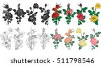 bouquet of roses can be used as ... | Shutterstock .eps vector #511798546