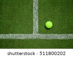 tennis ball near the line on...   Shutterstock . vector #511800202