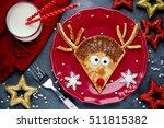 reindeer pancakes for christmas ...   Shutterstock . vector #511815382