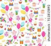 vector birthday seamless... | Shutterstock .eps vector #511815892