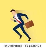 hurry businessman illustration... | Shutterstock .eps vector #511836475
