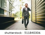 young businessman going to work ... | Shutterstock . vector #511840306