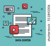 data center flat line icons | Shutterstock .eps vector #511843306