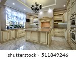 kitchen with appliances and a... | Shutterstock . vector #511849246