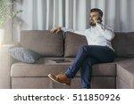 young bearded businessman ... | Shutterstock . vector #511850926