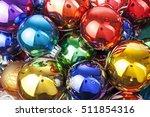 christmas ball texture real... | Shutterstock . vector #511854316