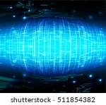 future technology  blue cyber... | Shutterstock .eps vector #511854382
