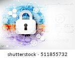 secure digital space. virtual... | Shutterstock .eps vector #511855732