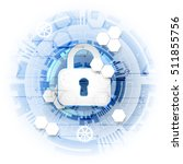 secure digital space. virtual... | Shutterstock .eps vector #511855756
