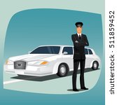 chauffeur  driver of luxury car ... | Shutterstock .eps vector #511859452
