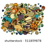 colorful vector hand drawn...   Shutterstock .eps vector #511859878