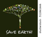 save earth ecology symbol in...   Shutterstock .eps vector #511861666