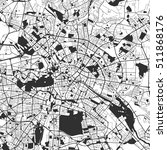 berlin monochrome map artprint  ... | Shutterstock .eps vector #511868176