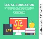 legal education concept. modern ... | Shutterstock .eps vector #511868752
