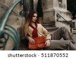 fashion female model in... | Shutterstock . vector #511870552