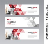 banner business layout template ... | Shutterstock .eps vector #511872562