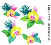 few vector orchid bouquets.... | Shutterstock .eps vector #511877866