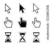 pixel cursor pointer  hand ... | Shutterstock . vector #511881358
