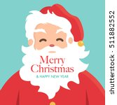 christmas card with santa claus.... | Shutterstock .eps vector #511882552