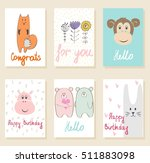 collection of cute artistic... | Shutterstock .eps vector #511883098