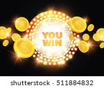 you win shining banner with... | Shutterstock .eps vector #511884832