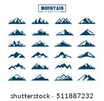 mountain icons set | Shutterstock .eps vector #511887232