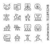 business people line icon set... | Shutterstock .eps vector #511892248
