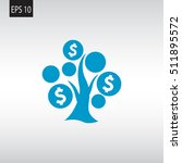 money tree icon vector . | Shutterstock .eps vector #511895572