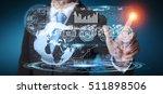 businessman touching digital... | Shutterstock . vector #511898506