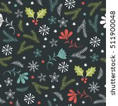 seamless christmas pattern  | Shutterstock .eps vector #511900048