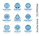 set of vector earth icons and... | Shutterstock .eps vector #511900366