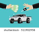 cartoon  businessman selling a... | Shutterstock .eps vector #511902958