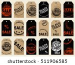 set of tags. black friday sale... | Shutterstock .eps vector #511906585