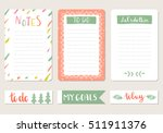 notepad and tags for agenda.... | Shutterstock .eps vector #511911376