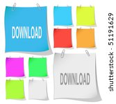 download. vector note papers.