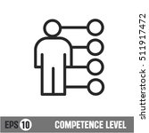 vector lines icon competence... | Shutterstock .eps vector #511917472