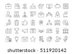 set vector line icons startup...