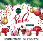 sale banner with christmas tree ...   Shutterstock .eps vector #511920592